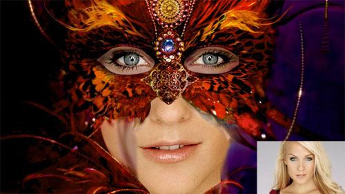 Женский шаблон - маска