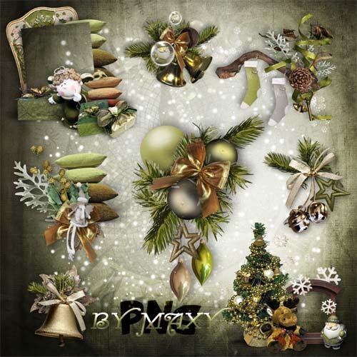 Кластеры, новогодние вырезы - Праздник наступает