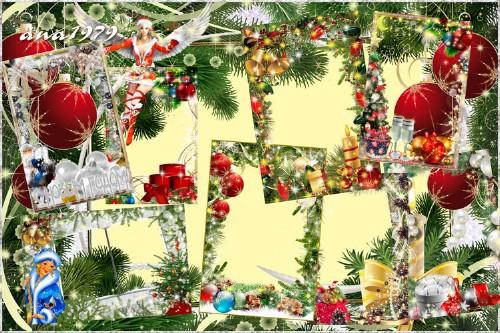 Набор новогодних рамок - Новогодняя ночь