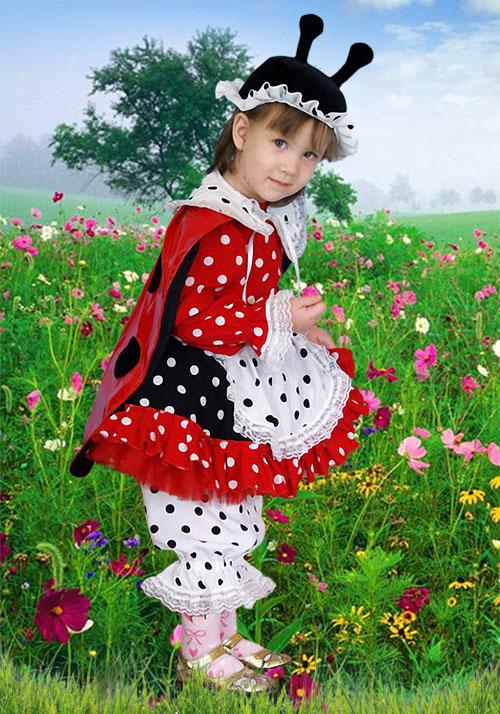 Детский шаблон для фотошопа - Божья коровка