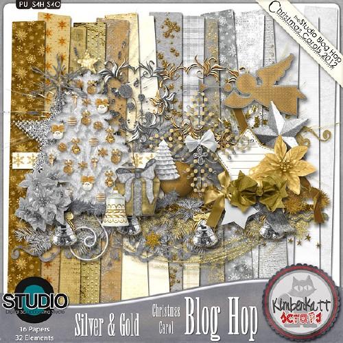 Зимний скрап-набор - Серебро и золото