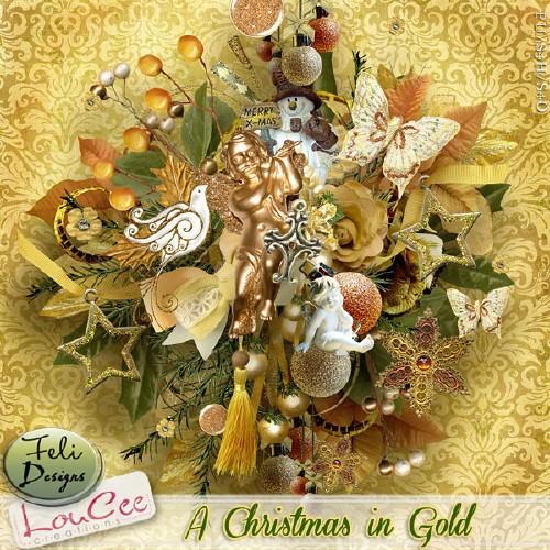 Рождественский скрап-набор - Золотое Рождество