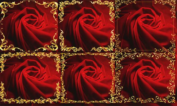 Клипарт - Рамки золотые на красном