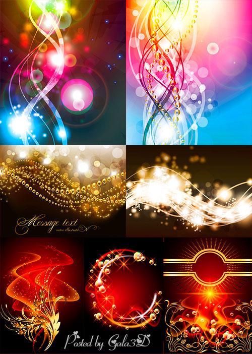 Векторные фоны - Яркий эффект звёздного света