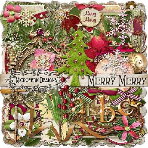 Новогодний скрап-набор - Merry Merry