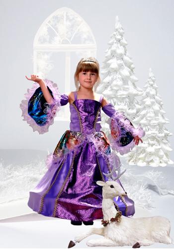 Шаблон для фотошопа - Девочка в сиреневом платье