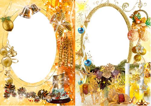 Рамочки для фотошопа - Скоро золотое Рождество