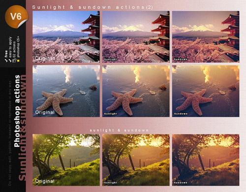 Экшен - Солнечный свет и закат