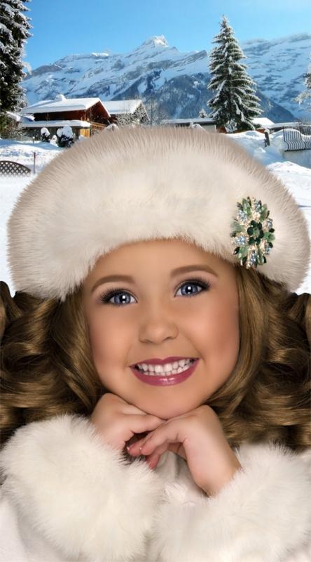 Шаблон детский - Зимнее настроение