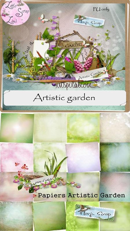 Скрап набор Artistic garden - Художественный сад
