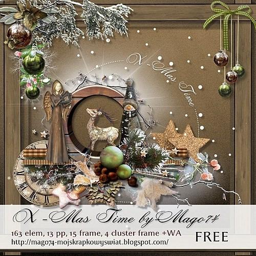 Новогодний скрап-набор - Рождественское время
