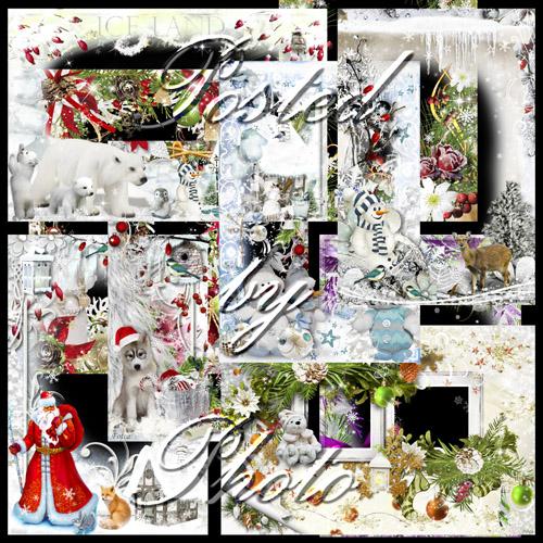 Новогодний набор из 10 рамок - Новогодняя ночь