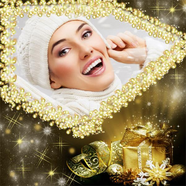 Рамка женская - Новогодние огни