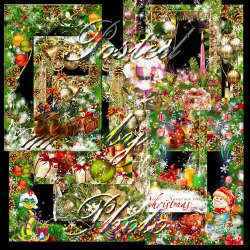Новогодний набор из 10 рамок - Волшебный праздник