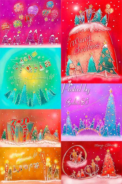Красивые рождественские пастельные фоны