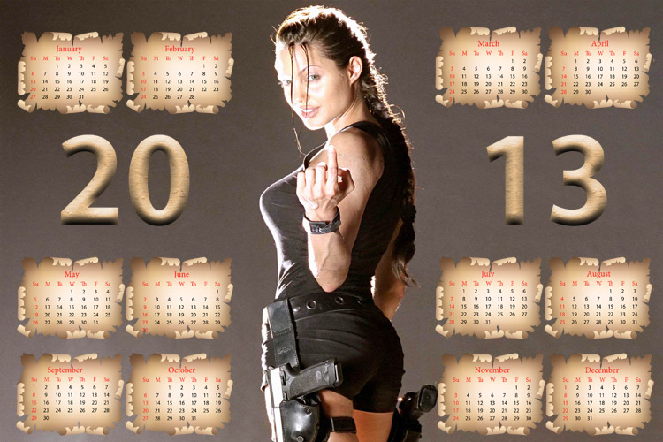 Календарь на 2013 год - Анжелина Джоли