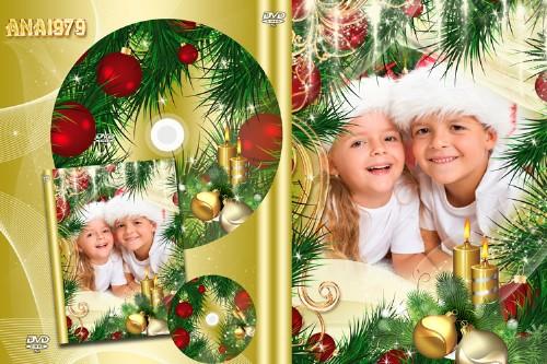 Новогодняя обложка для DVD – Праздник весело встречали