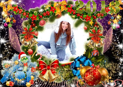 Рамка Новогодняя - Рождественский Венок 2013(многослойная)