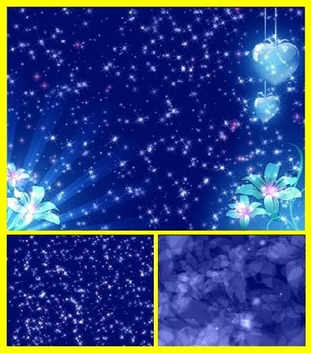 Фоновые футажи Голубое сияние