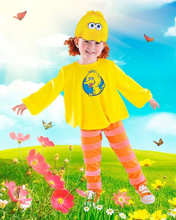 Детский фотошаблон - Солнечная птичка