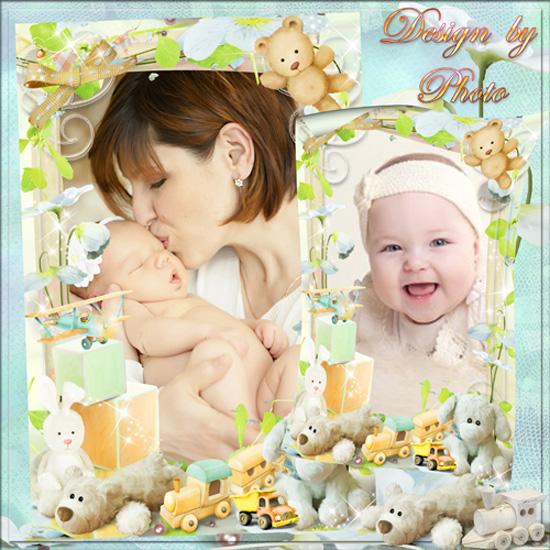 Детская рамка для фото  - Дали Маше погремушку