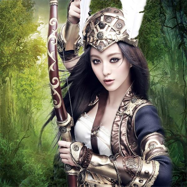 Шаблон женский - Охотница