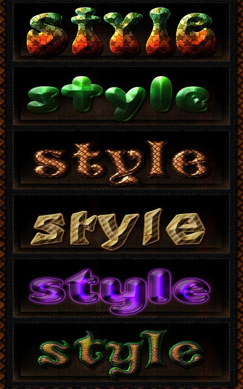 Стили - Текстовый микс 5