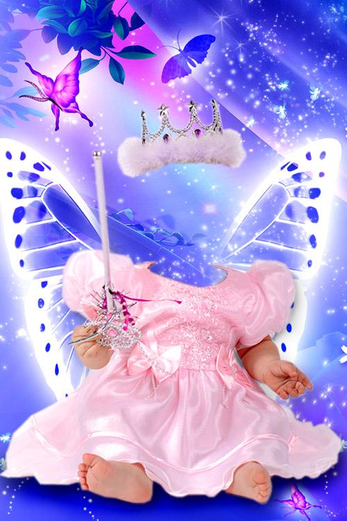 Детский шаблон для девочек - Маленькая фея