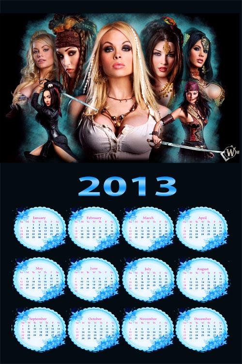 Календарь на 2013 год - Пираты скачать бесплатно.  Категория.  PSD исходники.  Просмотров: 17 Добавил: Трассер Дата.