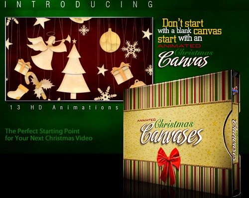 Коллекция анимированных фонов на рождественскую и новогоднюю тематику