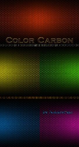 Текстуры – Цветной карбон