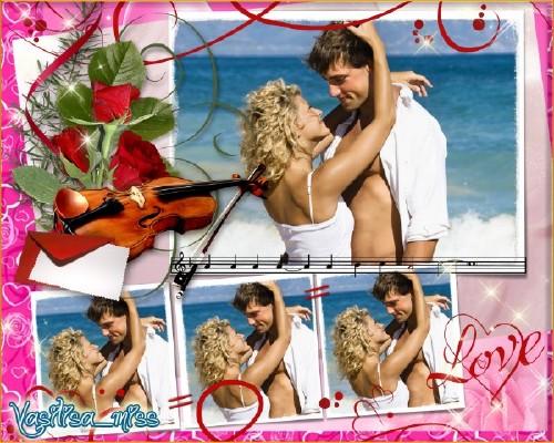 Рамка для фотошоп - Симфония любви