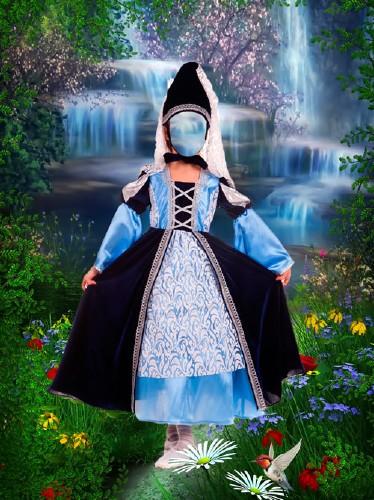 Шаблон для фотошопа - Сказочная принцесса в лесу