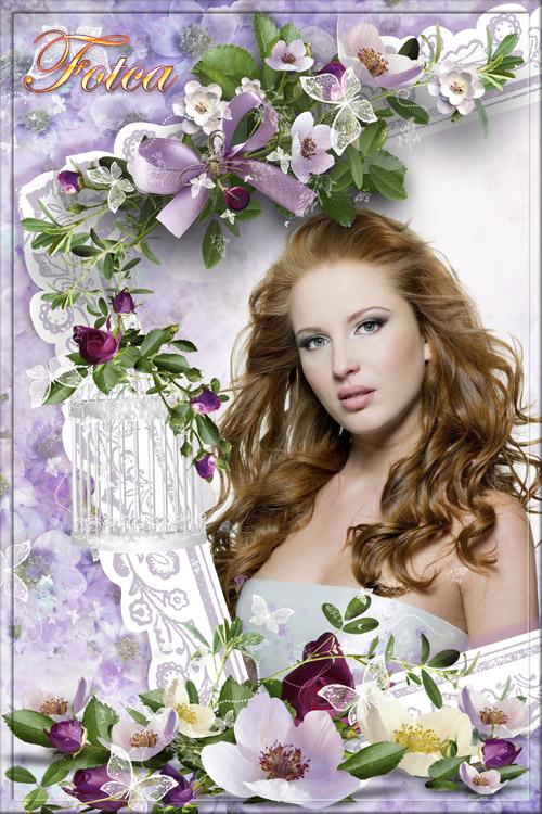 Цветочная рамка для фото - Сколько шарма, прелести, изыска
