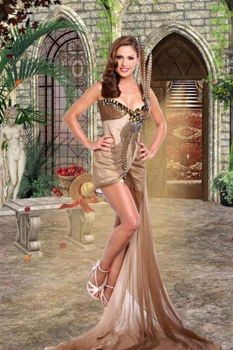 Женский шаблон для фотошопа - девушка в красивом платье