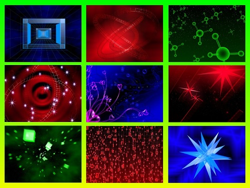 Подборка футажей-фонов с эффектами абстракций