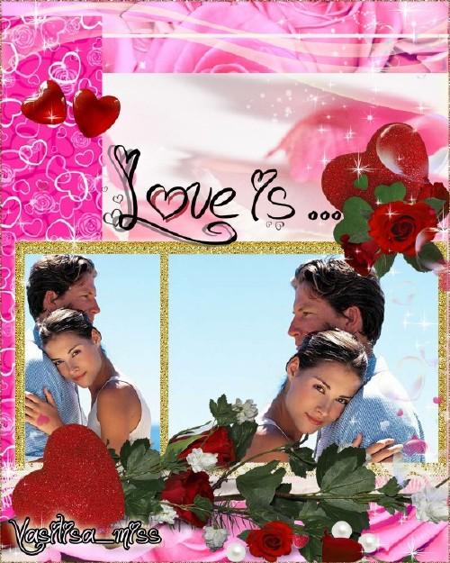 Рамка для фотошоп - Любовь рождает смысл жизни
