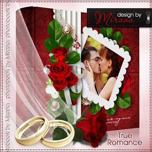 Шаблон свадебной фотокниги и DVD шаблон - True Romance