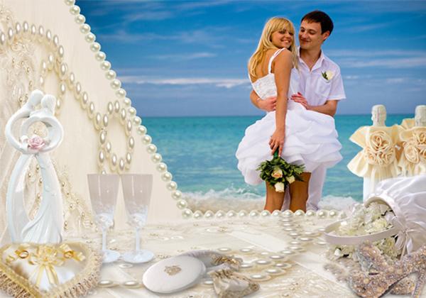 Рамка свадебная - Счастливые моменты