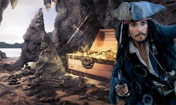 Шаблон мужской - Пиратские сокровища