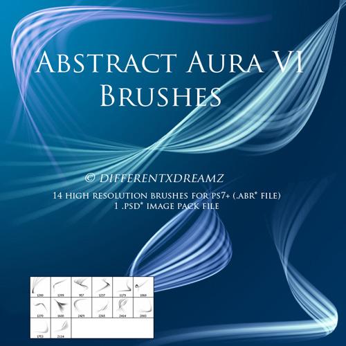 Кисти для фотошопа - Abstract Aura