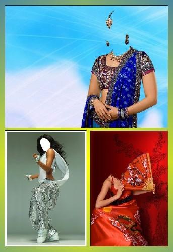 Набор женских шаблонов для фотомонтажа - Восточные красавицы