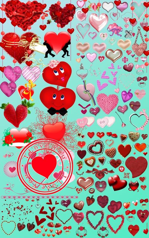 Скрап-набор - Сердца Для Влюбленных