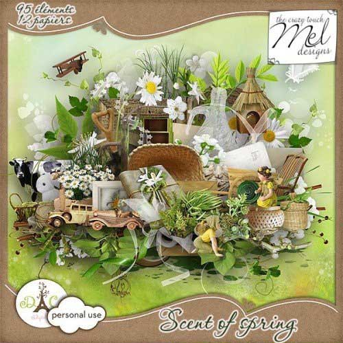 Весенний скрап-набор - Запахи весны