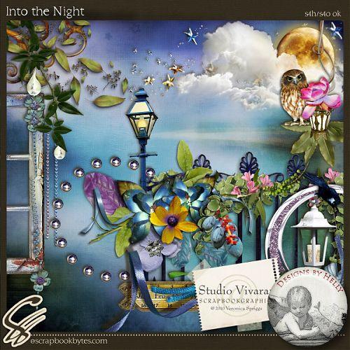 Романтический скрап-набор - Чудесной ночью