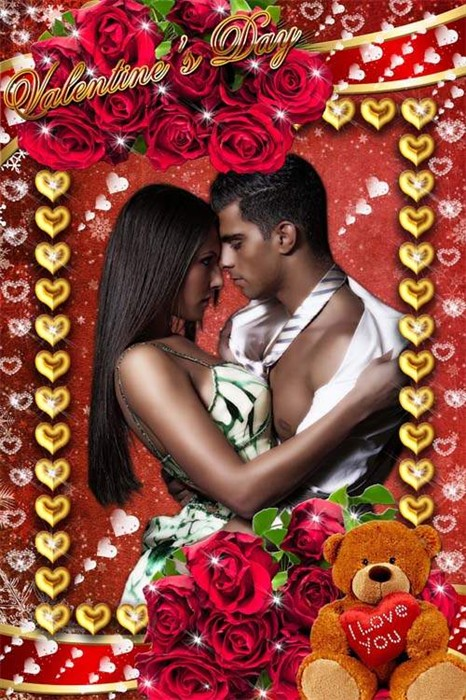 Романтическая рамка для влюбленных - I Love You