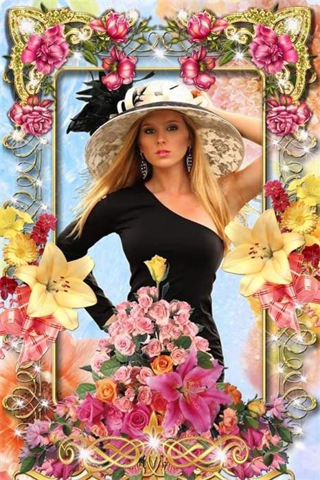 Красивая цветочная рамочка - Леди совершенство