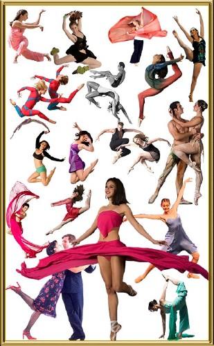 Клипарт балетные девушки на прозрачном фоне