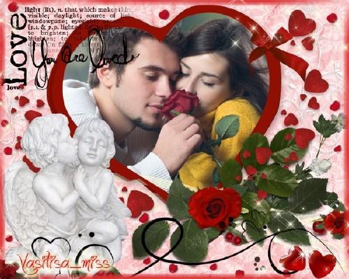 Романтическая рамка - Любовь загадочное чувство