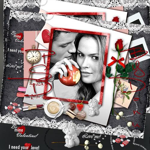 Рамка - скрап страничка  -  В любви не бывает мелочей